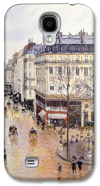 Rue Saint Honore Afternoon Rain Effect Galaxy S4 Case by Camille Pissarro