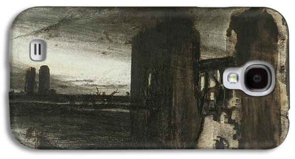 Ruins In A Landscape Galaxy S4 Case by Victor Hugo