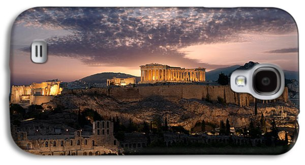Ruins Of A Temple, Athens, Attica Galaxy S4 Case by Panoramic Images