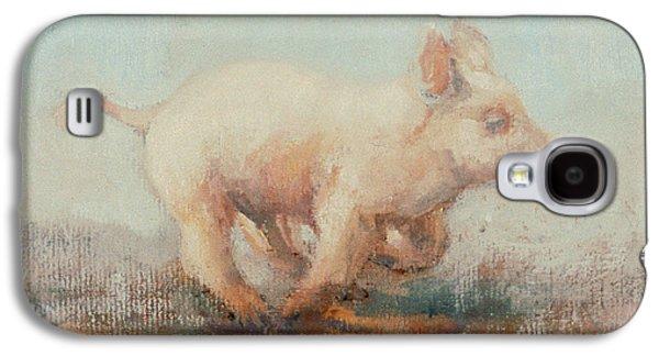Running Piglet Galaxy S4 Case by Ellie O Shea