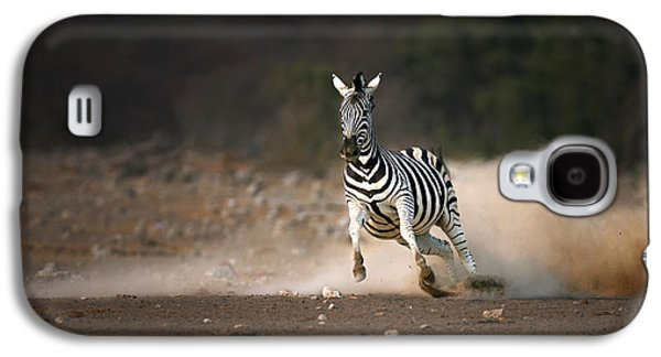 Running Zebra Galaxy S4 Case by Johan Swanepoel