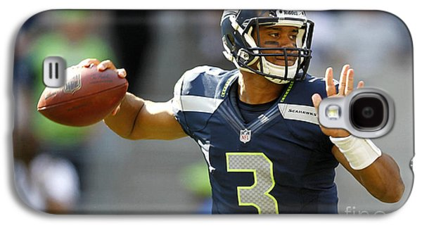 Russell Wilson 2014 Super Bowl Painting Galaxy S4 Case