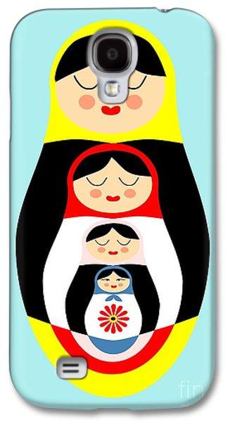 Russian Doll Matryoshka Galaxy S4 Case by Patruschka Hetterschij
