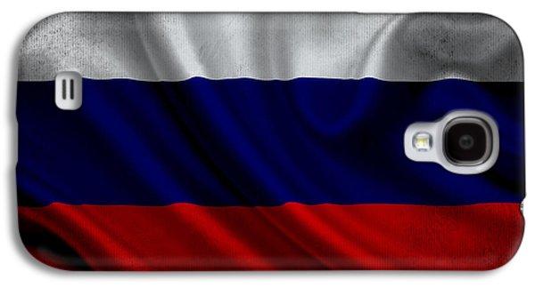 Russian Flag Waving On Canvas Galaxy S4 Case by Eti Reid