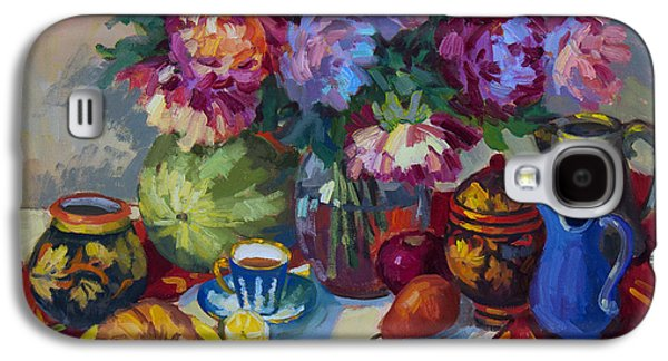 Russian Still Life Galaxy S4 Case by Diane McClary