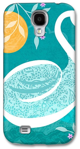 S Is For Swan Galaxy S4 Case by Valerie Drake Lesiak