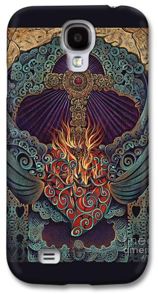 Sacred Heart Galaxy S4 Case by Ricardo Chavez-Mendez