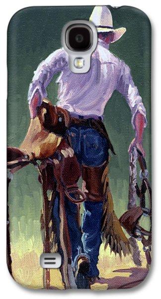 Saddle Bronc Rider Galaxy S4 Case by Randy Follis