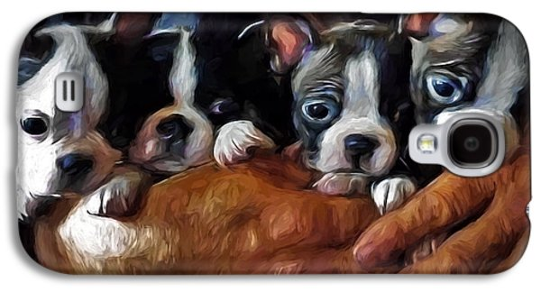 Safe In The Arms Of Love - Puppy Art Galaxy S4 Case