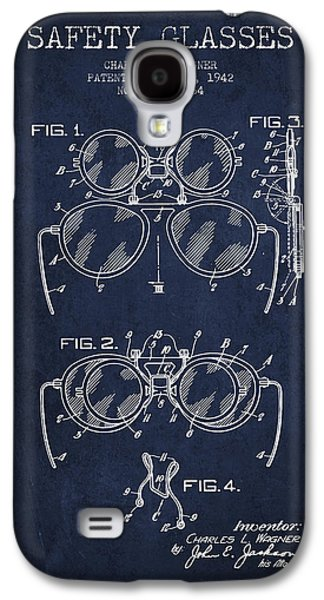 Safety Glasses Patent From 1942 - Navy Blue Galaxy S4 Case