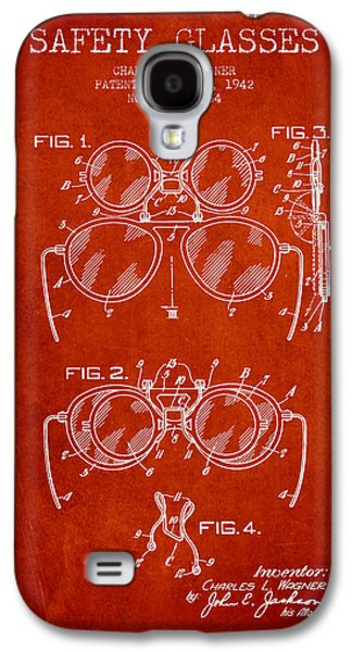 Safety Glasses Patent From 1942 - Red Galaxy S4 Case