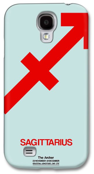 Sagittarius Zodiac Sign Red Galaxy S4 Case by Naxart Studio