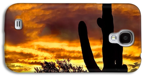 Saguaro Silhouette  Galaxy S4 Case by Robert Bales