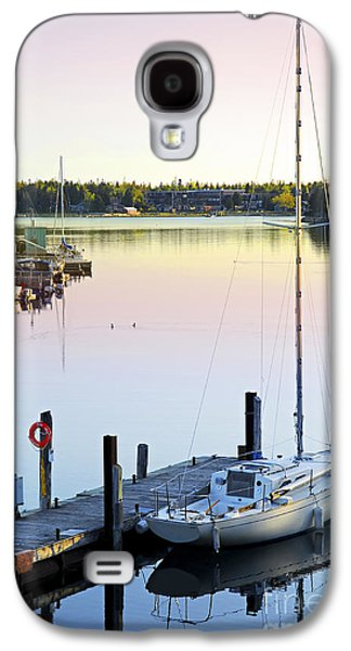 Sailboat At Sunrise Galaxy S4 Case by Elena Elisseeva