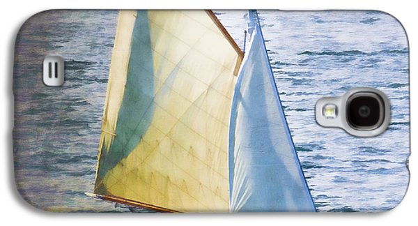 Sailboat Off Marthas Vineyard Massachusetts Galaxy S4 Case by Carol Leigh