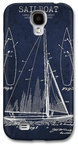 Boat Galaxy S4 Case - Sailboat Patent Drawing From 1927 by Aged Pixel
