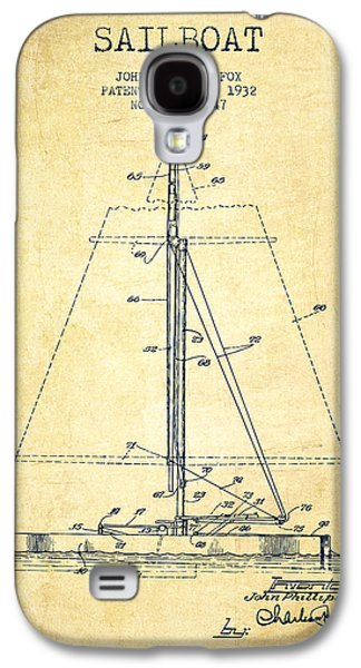 Sailboat Patent From 1932 - Vintage Galaxy S4 Case