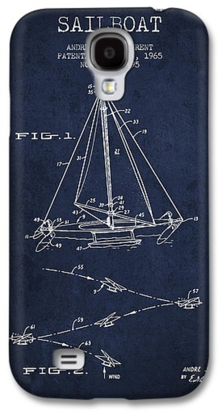 Sailboat Patent From 1965 - Navy Blue Galaxy S4 Case