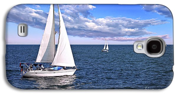 Sailboats At Sea Galaxy S4 Case by Elena Elisseeva