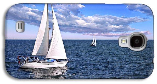 Sailboats At Sea Galaxy S4 Case