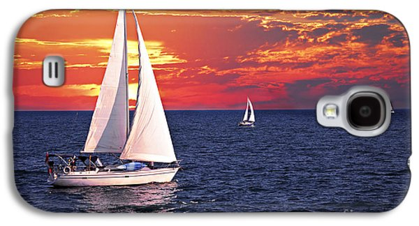 Sailboats At Sunset Galaxy S4 Case by Elena Elisseeva