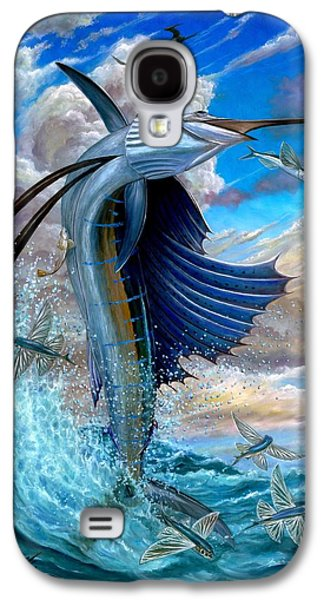 Sailfish And Flying Fish Galaxy S4 Case by Terry Fox