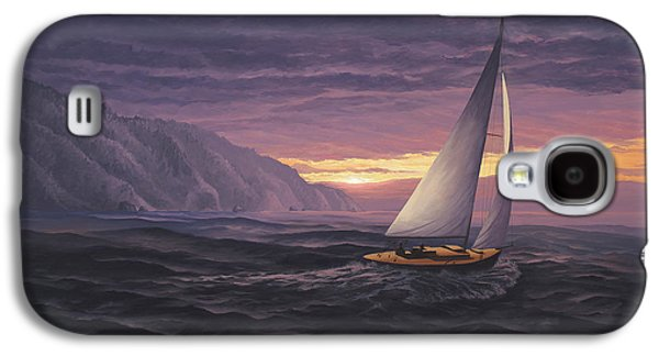 Sailing In Paradise - Big Sur Galaxy S4 Case by Del Malonee