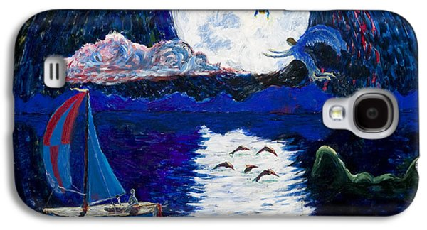 Sailing In The Moonlight Galaxy S4 Case by Walt Brodis