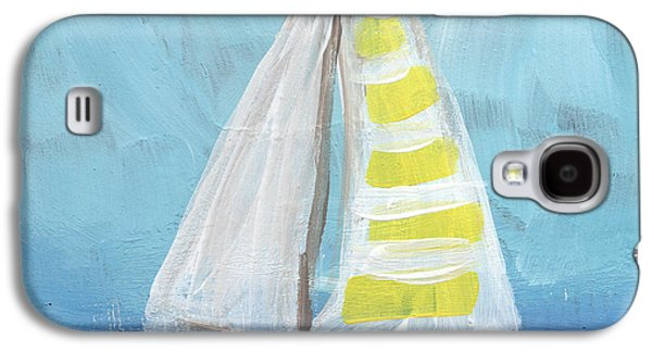 Sailing- Sailboat Painting Galaxy S4 Case by Linda Woods