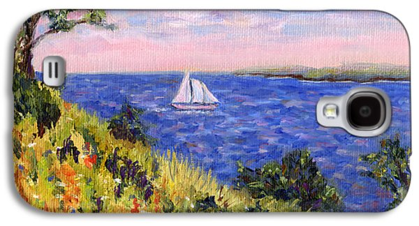 Sailing Through Belfast Maine Galaxy S4 Case by Pamela Parsons