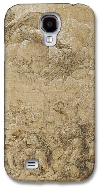 Saint Catherine Of Alexandria At The Wheel Nicolò Dellabate Galaxy S4 Case by Litz Collection