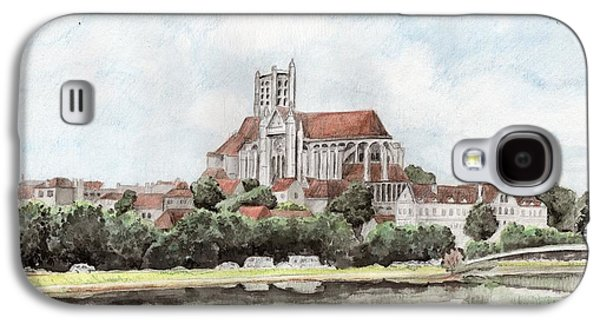 Galaxy S4 Case featuring the painting Saint-etienne A Auxerre by Marc Philippe Joly