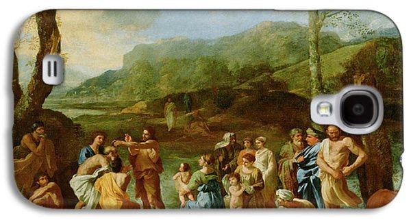 Saint John Baptizing In The River Jordan Nicolas Poussin Galaxy S4 Case by Litz Collection