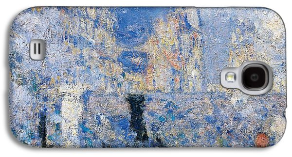 Saint Lazare Station Galaxy S4 Case by Claude Monet