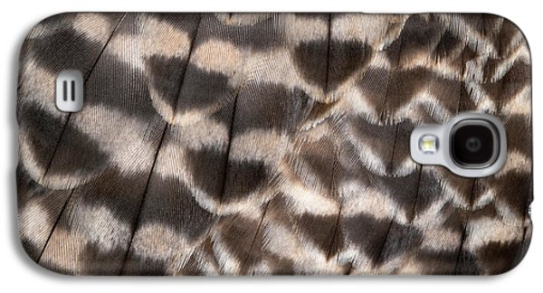 Saker Falcon Wing Feathers Abstract Galaxy S4 Case by Nigel Downer