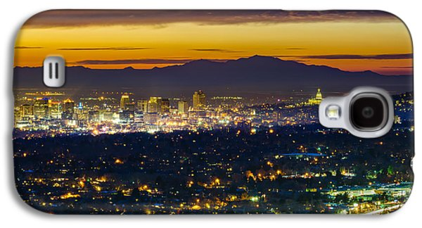 Salt Lake City At Dusk Galaxy S4 Case by James Udall