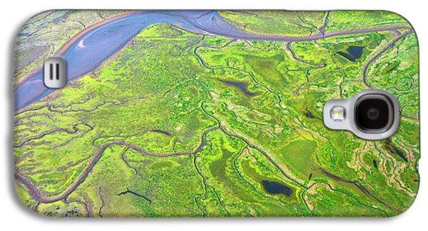 Salt Marshes From The Air. Galaxy S4 Case by Mark Williamson