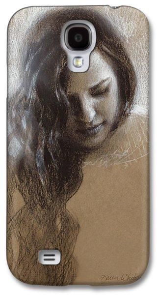 Samantha Sketch Galaxy S4 Case by Karen Whitworth