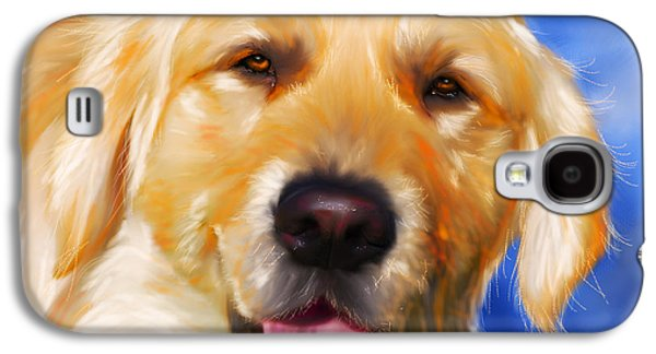 Happy Golden Retriever Painting Galaxy S4 Case by Michelle Wrighton
