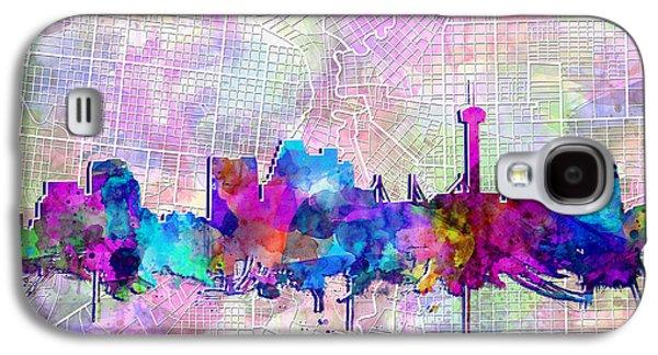 San Antonio Skyline Watercolor 3 Galaxy S4 Case