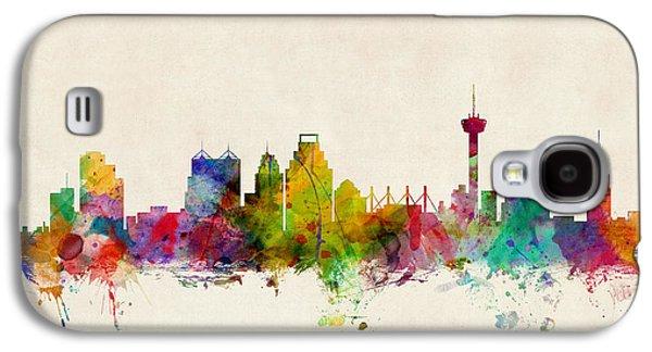 San Antonio Texas Skyline Galaxy S4 Case by Michael Tompsett