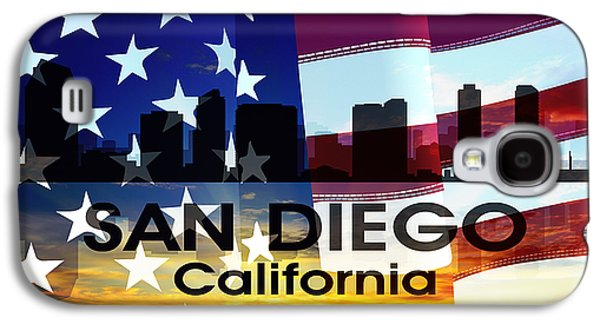 San Diego Ca Patriotic Large Cityscape Galaxy S4 Case