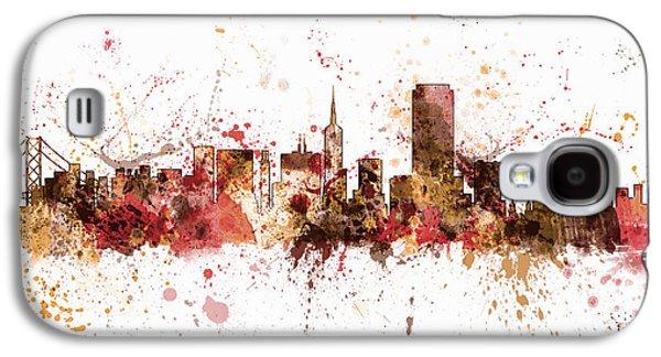 San Francisco California City Skyline Galaxy S4 Case by Michael Tompsett
