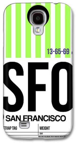 San Francisco Luggage Tag Poster 2 Galaxy S4 Case by Naxart Studio