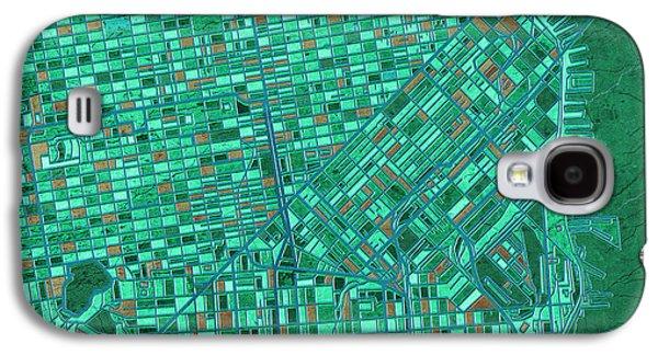San Francisco Map Antique 2 Galaxy S4 Case