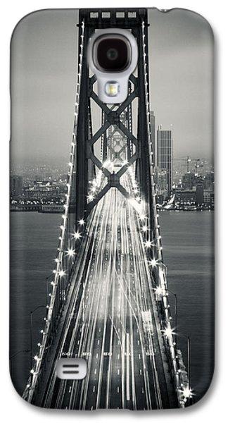 San Francisco - Oakland Bay Bridge Bw Galaxy S4 Case by Adam Romanowicz