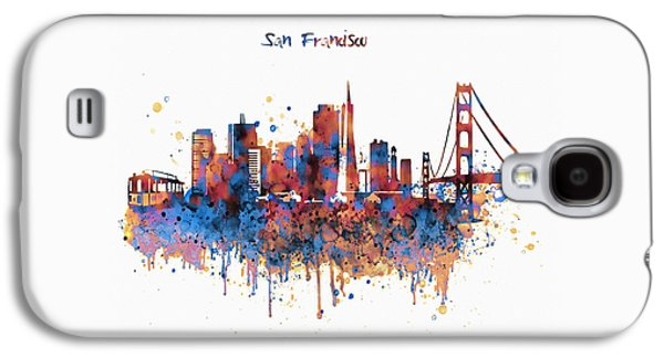 San Francisco Watercolor Skyline Galaxy S4 Case