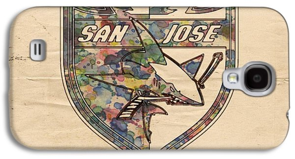 San Jose Sharks Retro Poster Galaxy S4 Case