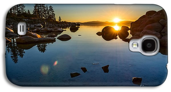 Sand Harbor Sunset Galaxy S4 Case by Jamie Pham