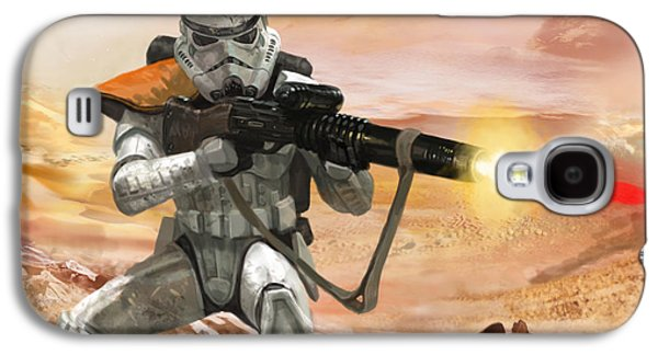 Sand Trooper - Star Wars The Card Game Galaxy S4 Case by Ryan Barger